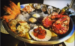 Seafood Platter served at the Marine Hotel, Whitby