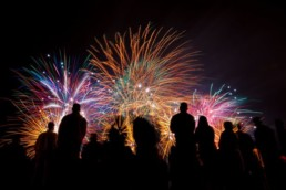 Stock Photo of Fireworks Display